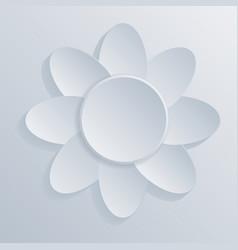 White 3d flower symbol vector