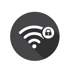 Wifi icon with padlock sign vector