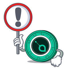 with sign siacoin character cartoon style vector image
