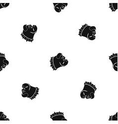 bulldog dog pattern seamless black vector image vector image