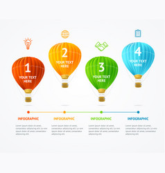 business infographic hot air banner card vector image vector image