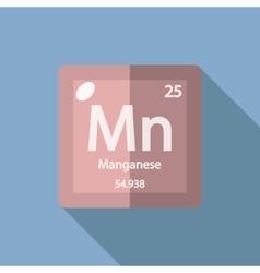Chemical element Manganese Flat vector image vector image