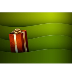 christmas background green stripe wave vector image vector image