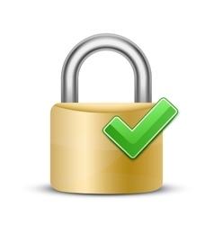 Combination lock icon vector image vector image