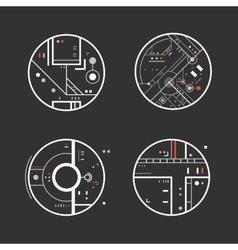 Futuristic design elements vector image