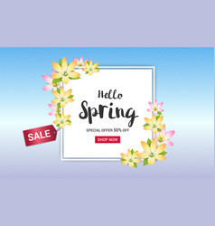 spring sales banner background or poster vector image vector image