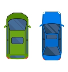 Car top view isolated vector image vector image