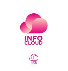 cloud computing logo info emblems chat vector image