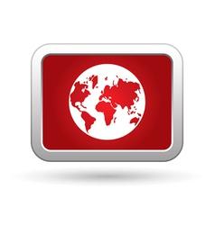 Earth globe icon vector image