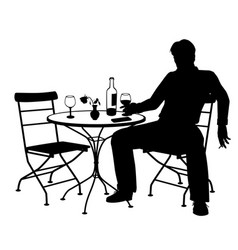 jilted man silhouette vector image