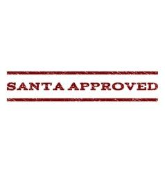 Santa Approved Watermark Stamp vector image vector image