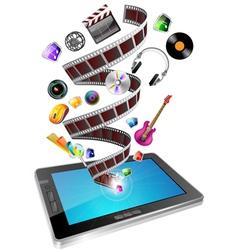 tablet multimedia vector image vector image