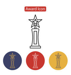 film award for the best film in the form of stars vector image vector image