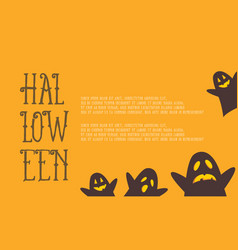 greeting card for halloween style vector image vector image