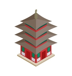 Pagoda icon isometric 3d style vector image vector image