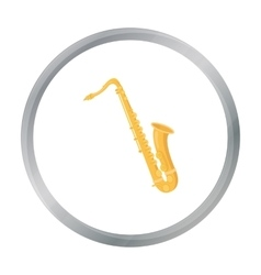 Saxophone icon in cartoon style isolated on white vector image vector image
