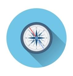 stylish flat design white Compass Icon vector image