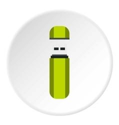 USB flash drive icon flat style vector image