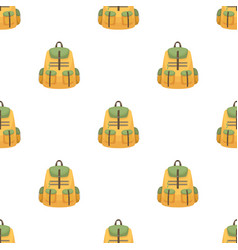 a backpack for thingstent single icon in cartoon vector image