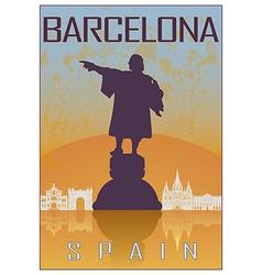 Barcelona vintage poster vector image