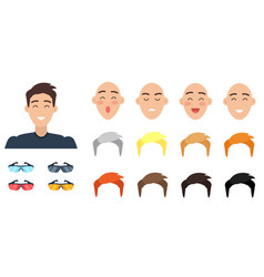 create your character collection of emotions vector image