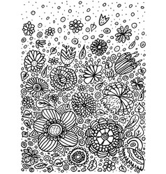 pattern doodle coloring vector image vector image