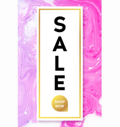 sale black and gold banner template with marble vector image vector image