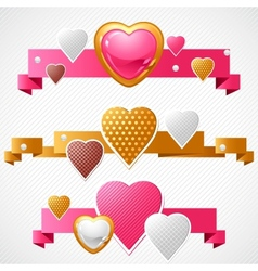 Valentines Day background Origami speech bubble vector image