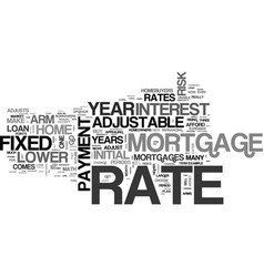 Why choose an adjustable rate mortgage text word vector