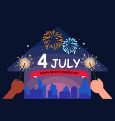 4th july with us america vector