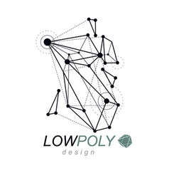 abstract 3d geometric low poly object technology vector image