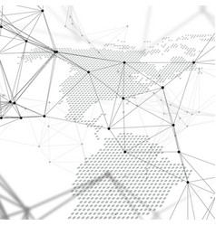 Abstract futuristic network shapes high tech vector
