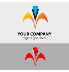 Abstract lines icon for company corporation sign vector