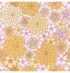 Abstract seamless pattern floral background vector