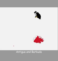 antigua and barbuda map flag vector image