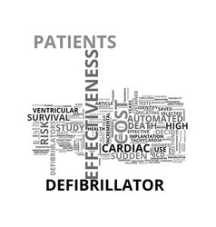 Automated defibrillator and cost effectiveness vector