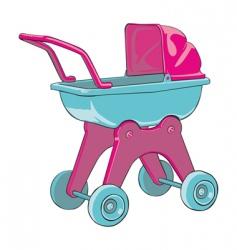 Baby car vector
