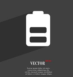 Battery half level Low electricity icon symbol vector