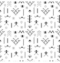 berber tattoos seamless pattern vector image