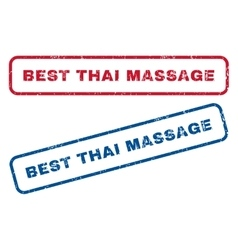 Best Thai Massage Rubber Stamps vector image