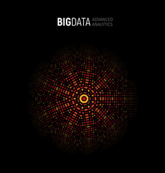 big data advanced analysis geometrical circular vector image