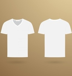 Blank v t-shirt template Front and back vector