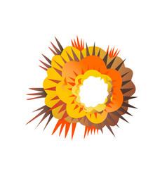 Bomb explosion retro vector
