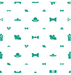 Bow icons pattern seamless white background vector