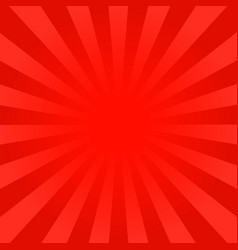 bright red rays background vector image