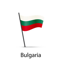 bulgaria flag on pole infographic element on vector image