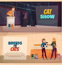 Cat show banners vector