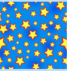 comic starry bright seamless pattern vector image