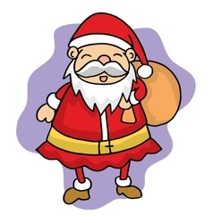 Cute Santa Christmas character stock vector image