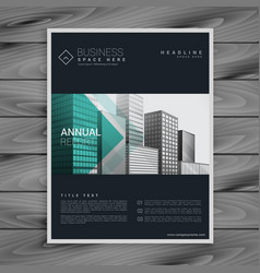 dark brochure flyer poster design template in a4 vector image